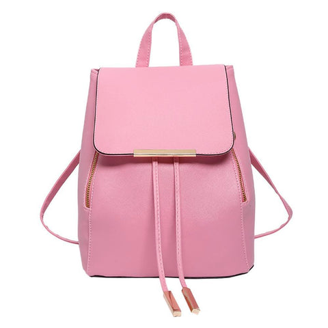 Image of Female Leather Backpack