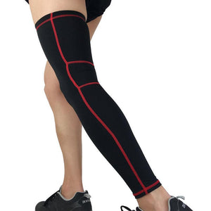 Elastic Lycra Basketball Leg Warmers Calf Thigh Compression Sleeves Knee
