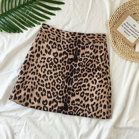 Sexy Leopard Mini Skirts