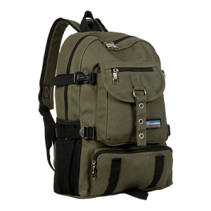 Strap zipper casual backpack