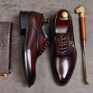 Oxford Formal Shoes Genuine Leather