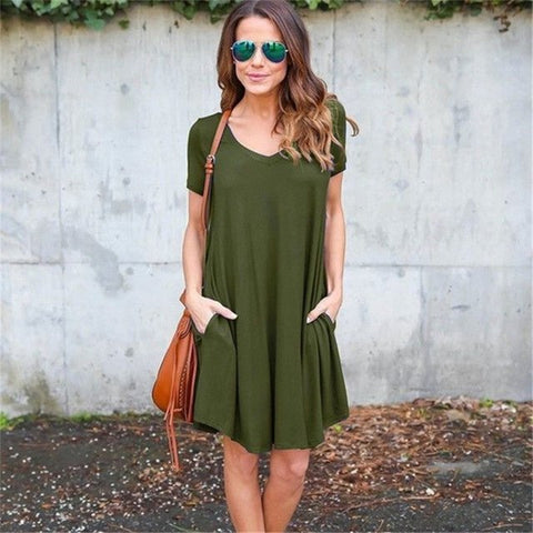 Image of Women Casual Short Sleeve Dress