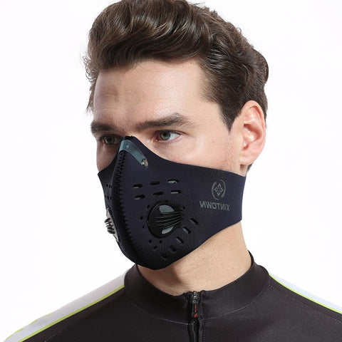 Image of Activated Carbon Dust-proof Cycling Face Mask Anti-Pollution Bicycle Bike Outdoor Running