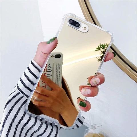 Image of Gasbag Drop Proof Mirror Case for iphone XR 7 8 XS MAX XSmax