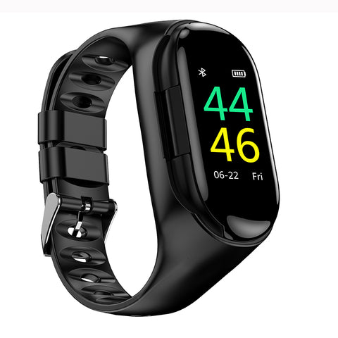 Image of Smart Watch Heart Rate Monitor Bluetooth Earphone Fitness