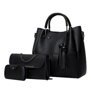 Women 3Pcs Shoulder Handbag