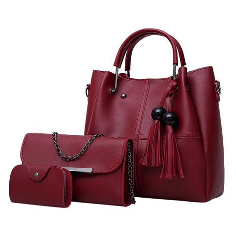 Image of Women 3Pcs Shoulder Handbag