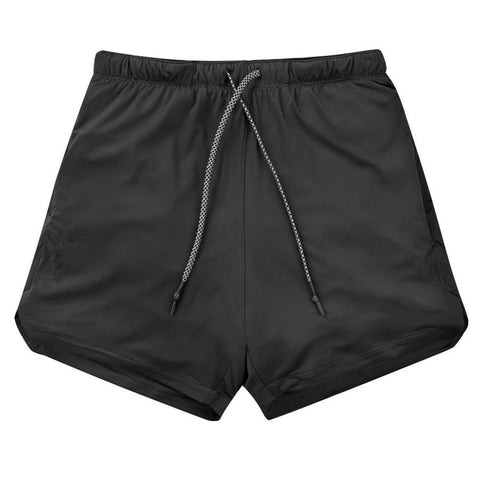Image of Men 2 in 1 Running Shorts Jogging Gym Fitness Training