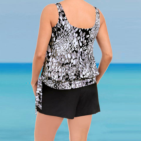 Plus Size Women Tankini Sets With Boy Shorts