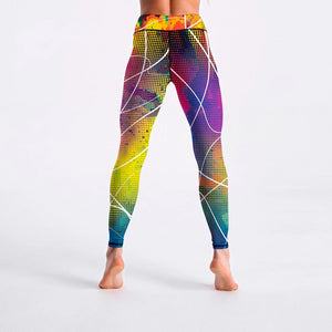 Colorful Plaid Striped Print Fitness