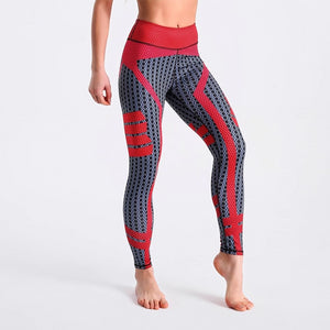 Red Black Plaid Print Fitness Quick Drying Clothes