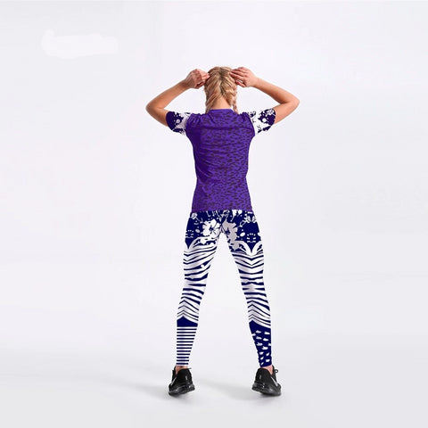 Image of T-shirts long pants suits one sets dark blue