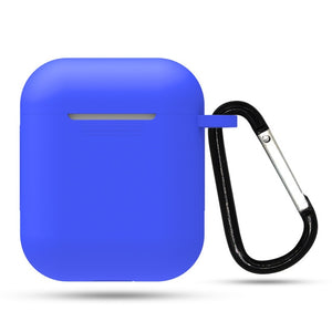 Silicone airpods case cover with Keychain for Apple airpods Protector case .
