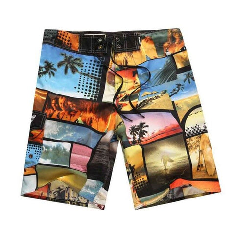 Image of Fashion Printed Board Shorts Men/Beach Short Male Swimwear