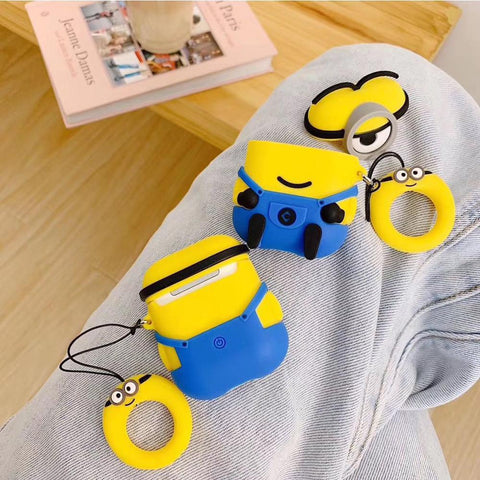 Top quality silicone  Minions cartoon airpods case cover