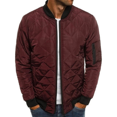 Image of Winter Jackets Men O Neck Zipper