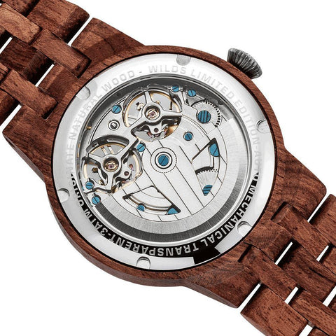 Image of Dual Wheel Automatic Kosso Wood Watch