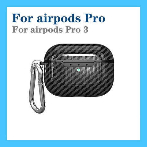 For AirPods case luxury Carbon Fiber/litchi skin silicon Protection Case For Air Pods