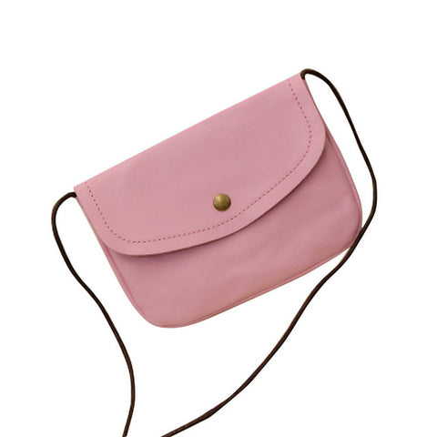 Image of Leather handbags candy color mini