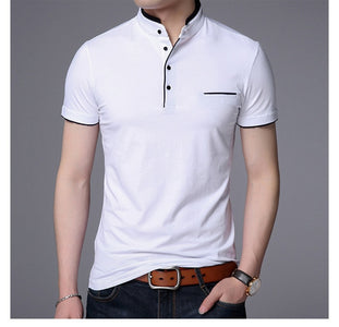 Men Short Sleeve Solid Polo Shirt