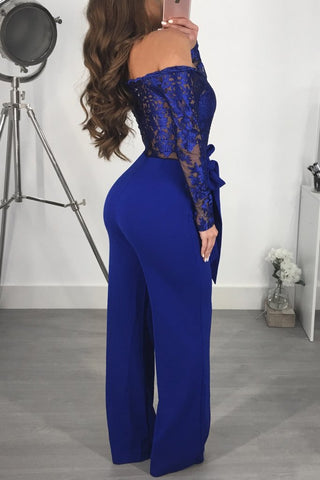 Image of Jumpsuit Women Sexy Off Shoulder