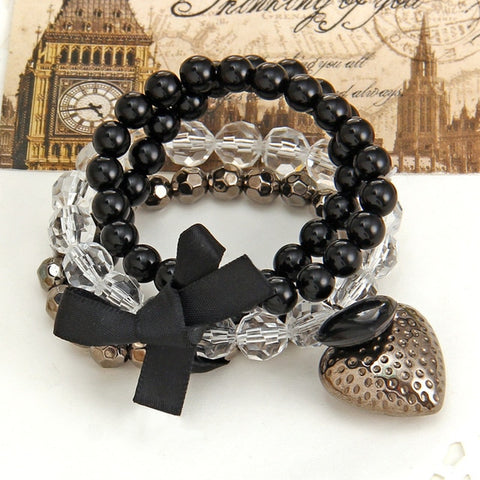 Image of Women Elastic Adjustable Beaded Bracelets