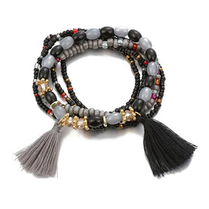 Women Elastic Adjustable Beaded Bracelets