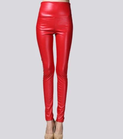 Image of Winter Women Thin Leather Pants