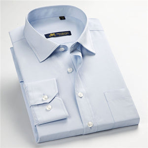 High quality classic twill business long sleeve shirt