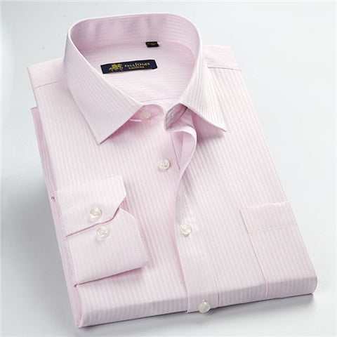 Image of High quality classic twill business long sleeve shirt