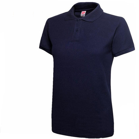 Image of Women Short Sleeve Slim Polos