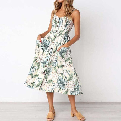 Image of Women Flower Party Dress