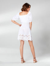 Load image into Gallery viewer, White Short Dress with Lace Detail