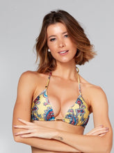 Load image into Gallery viewer, Paisley Slide Tri Bikini Top
