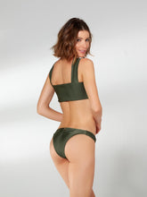 Load image into Gallery viewer, Green Ring Front Bandeau Bikini Top