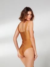 Load image into Gallery viewer, Mustard Trama One Piece with Belt