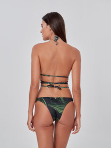 Green Leaves Bikini Pants