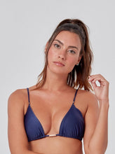 Load image into Gallery viewer, Navy Blue Slide Tri Bikini Top