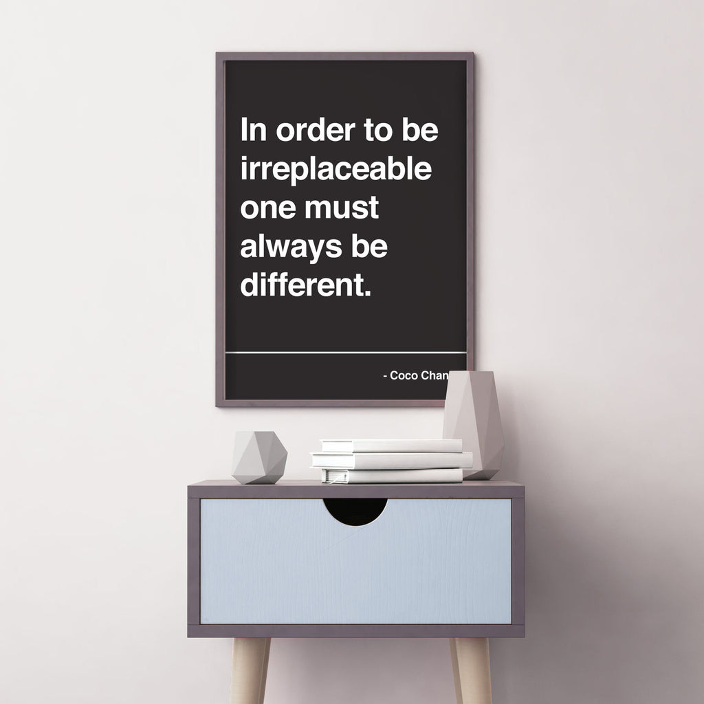 Coco Chanel Inspirational Quote Print Poster Skinny Malink