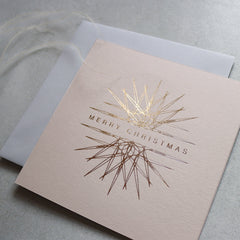 Neutral and Gold Foil Ornament Christmas Cards (card pack of 8)