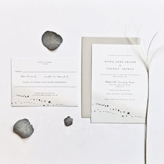 Pale Green Watercolour and Rose Gold Foil