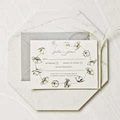 Poppy Gold Foil Wedding Invitation Suite