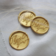 Self adhesive thank you wax seals