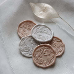 Self adhesive Tulip wax seal