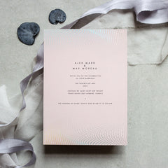 Blush Holographic Foil Wave Invitation Suite