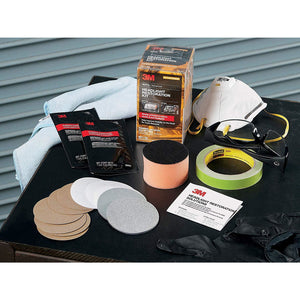 3M Headlight Restoration Kit 39084, Simple Process to Restore Cloudy & Dull Headlights, Hand Application, 1 Kit