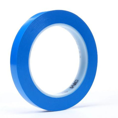 3M 03120 3M Vinyl Tape 471 Blue, 3/4 in x 36 yd 5.2 mil