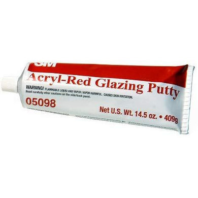 3M 05098 Acryl-Red Glazing Putty Tube - 14.5 oz.