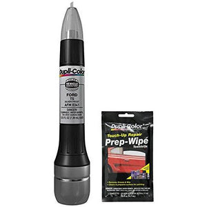 Dupli-Color AFM0341 Silver Frost Exact-Match Scratch Fix All-in-1 Touch-Up Paint for Ford Vehicles (TS) Bundle with Prep Wipe Towelette (2 Items)