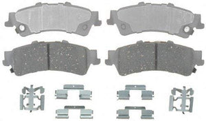 ACDelco 14D792CH Advantage Ceramic Rear Disc Brake Pad Set with Hardware
